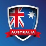 Australia flag vector shield Royalty Free Stock Image