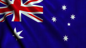 Australia Flag Video - 4K stock footage