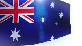 Australia flag wave waving. Video stock video