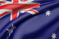 Australia flag waving Royalty Free Stock Photography