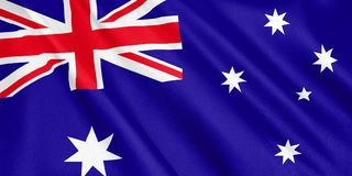 Australia flag waving with the wind. vector illustration