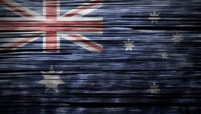 Australia flag on wood texture background Stock Images