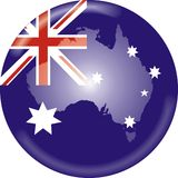 australia flagi mapa Zdjęcia Royalty Free