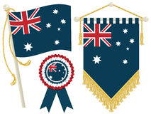 Australia flags Royalty Free Stock Photography
