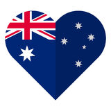 Australia flat heart flag Royalty Free Stock Images
