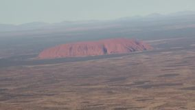 Australia,in flight over the outback, view from above uluru ayers rock stock video