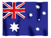 Australia fluttering. Fluttering image of the Australian national flag Royalty Free Stock Photography