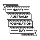 Australia Foundation Day greeting emblem. Australia Foundation day emblem isolated vector illustration on white background. 5 june patriotic state holiday event Stock Photos