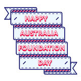 Australia Foundation Day greeting emblem. Australia Foundation day emblem isolated vector illustration on white background. 5 june patriotic state holiday event Stock Photography