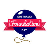 Australia Foundation Day greeting emblem. Australia Foundation day emblem isolated vector illustration on white background. 5 june patriotic state holiday event Royalty Free Stock Photos
