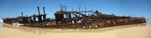 Australia fraser island maheno shipwreck. The maheno shipwreck on the beach Stock Photography
