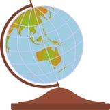 Australia on globe. Australia map on the globe with white background Royalty Free Stock Image