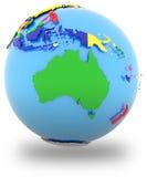 Australia on the globe Stock Photos
