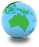 Australia on the globe Royalty Free Stock Image