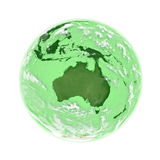 Australia on green Earth Royalty Free Stock Image