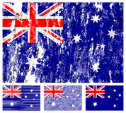 Australia grunge flag set Royalty Free Stock Photos