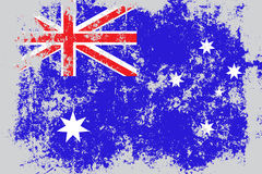 Australia grunge, old, scratched style flag vector illustration