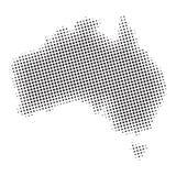 Australia halftone Map Royalty Free Stock Photo