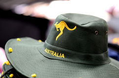 Australia Hat. For sale at Victoria Market Royalty Free Stock Photos