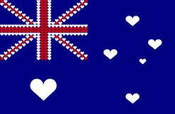 Australia heart flag Stock Photo