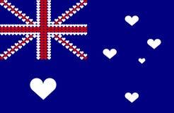 Australia heart flag. An illustration of Australian flag Stock Photo