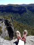 Australia: hiking Blue Mountains Royalty Free Stock Images