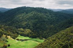 The hills and forests of Paradise. Stock Photo