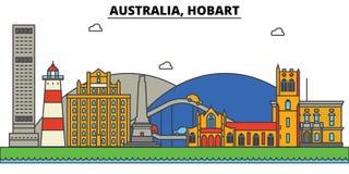 Australia, Hobart. City skyline architecture  Editable Stock Photography