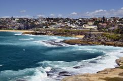 Australia, NSW, Sydney. Australia, homes and coast of Tamarama beach in Bondy, Sydney Royalty Free Stock Photo