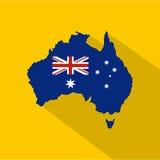 Australia icon, flat style Royalty Free Stock Photos