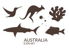 Australia. Icon set Stock Images