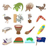 Australia icons cartoon Royalty Free Stock Photo