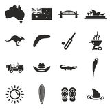 Australia Icons Royalty Free Stock Photography