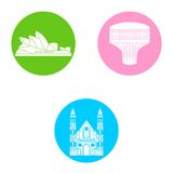Australia icons set Royalty Free Stock Photography
