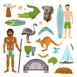 Australia Icons Set Royalty Free Stock Photo