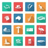 Australia icons set white Royalty Free Stock Photo