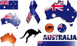 Australia Icons. Vector graphic images and icons representing Australia Stock Photography