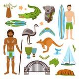 australia ikony ustawiają royalty ilustracja