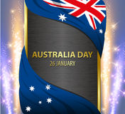 Australia Independence Day national flag banner Royalty Free Stock Photo