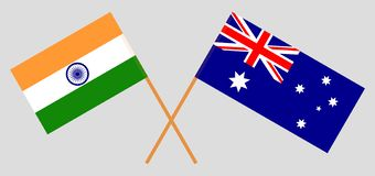 Australia and India. The Australian and Indian flags. Official colors. Correct proportion. Vector. Illustrationn royalty free illustration