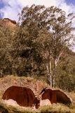 Australia: industrial ruins coke ovens Royalty Free Stock Image