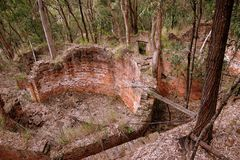 Australia: industrial ruins storage tanks Royalty Free Stock Image