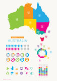Australia infographic with icons Royalty Free Stock Photography