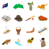 Australia isometric 3d icons Royalty Free Stock Photography