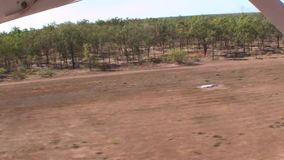 Australia,kakadu national park, flight over the natural park, the take-off stock footage