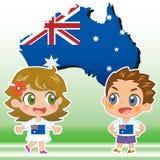 Australia kids vector illustration