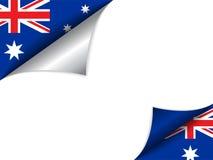 Australia kraju flaga kręcenia strona ilustracji