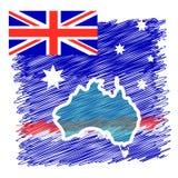 Australia kraju kontynent Fotografia Stock