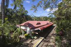 Australia Kuranda Train station. Australia Kuranda Railway Station Close stock photography