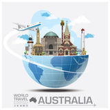 Australia Landmark Global Travel And Journey Infographic. Vector Design Template Stock Image
